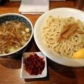 Photos: つけ麺・大盛+海老辛味@いわ田・岡山市北区