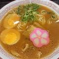 煮玉子入り和歌山ラーメン@阪和道上り線紀ノ川SAフードコート・和歌山市