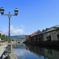 小樽運河にて