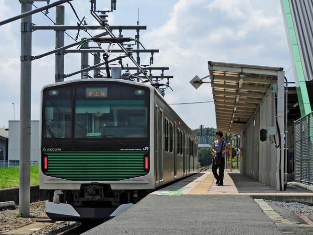 烏山駅にて