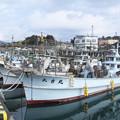 港の風景(2)八尾川河口の漁船 H30,2,16