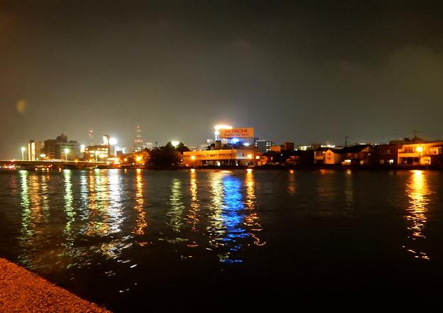 松江・大橋川夜景 H30,9,16