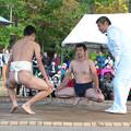 五箇地区相撲大会(9)親子取り組み(1)H30,11,3