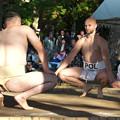 五箇地区相撲大会(12)ポーランド力士との取り組み(1)H30,11,3