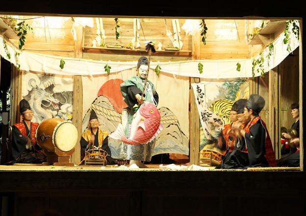 久見神楽(11)恵比須舞(鯛釣り)(3)