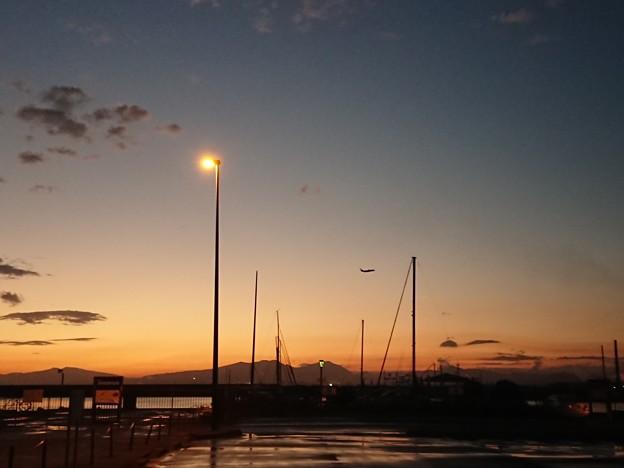 10月3日(水)の夕焼け