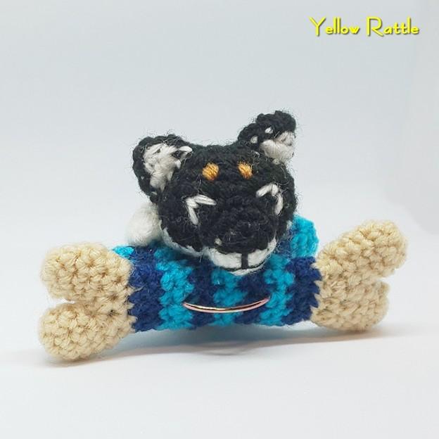 編みぐるみ 柴ワンコ&洗濯ばさみ