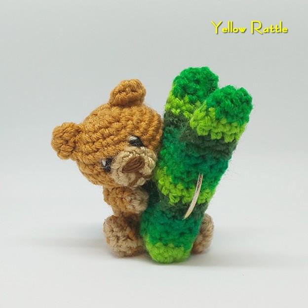 編みぐるみ クマ&洗濯ばさみ