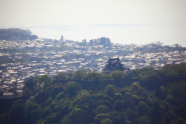 佐和山城跡からみた彦根城(滋賀県)