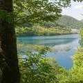 写真: 04奥四万湖0ダム湖面4