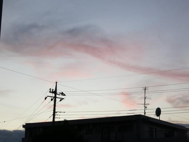 11月5日の夕焼け雲