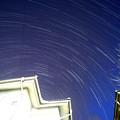 写真: ペルセウス座流星と日周運動