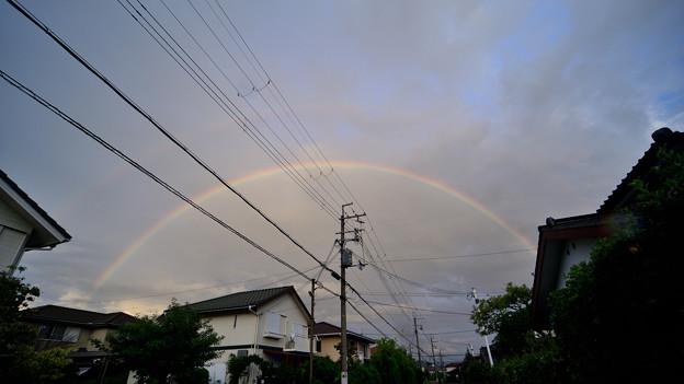 台風一過の二重虹