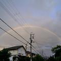 写真: 台風一過の二重虹
