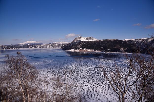 凍結した摩周湖