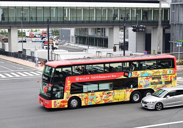 豊洲でレストランたバス