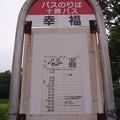 Photos: 十勝バス・幸福バス停