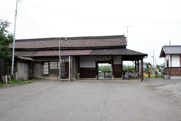 写真: 関東鉄道常総線・騰波ノ江駅(旧駅舎)
