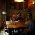 写真: 王様パンのカフェ、ロバの耳にて