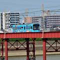 Romen Densha Hankai Tramway-7 大和川鉄橋