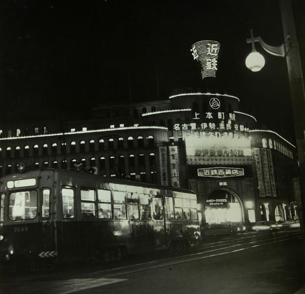 近鉄上本町と市電の夜景