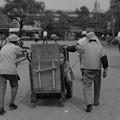 中の島公園のゴミ収集車 昭和44年