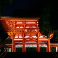 写真: 近江神宮ライトアップ