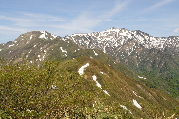 残雪の別山