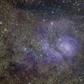 写真: 近赤外光によるM8