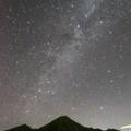 写真: [2018年8月5日]鷲羽岳と天の川