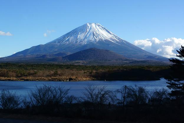 [2018年1月3日]精進湖から富士山