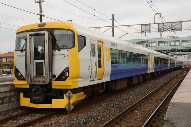 N257系NB-12編成回9524M氏家2番発車