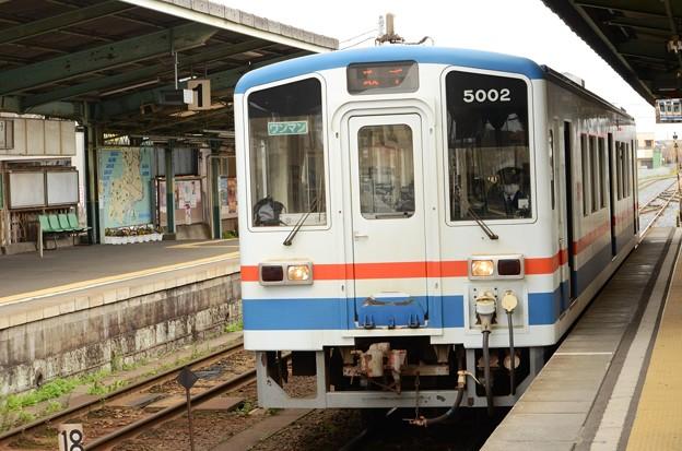 1060レ取手行きキハ5002水海道発車待機中