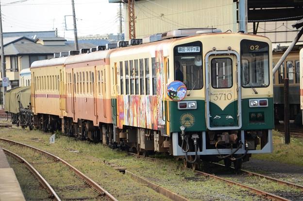 那珂湊駅留置のキハ3710形、キハ205形、キハ2000形