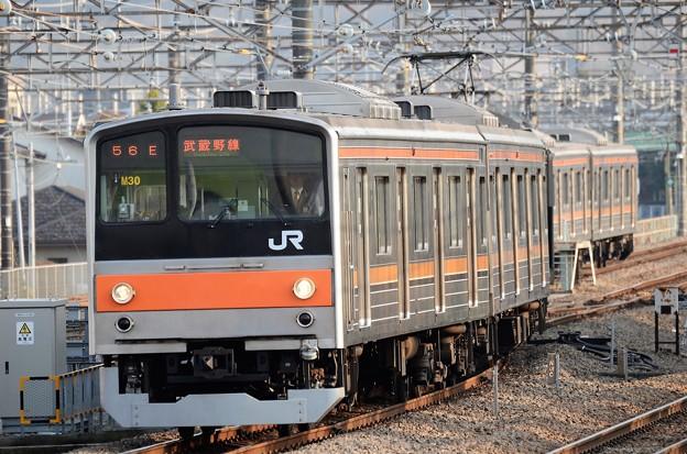 武蔵野線205系M30編成東京行き府中本町入線