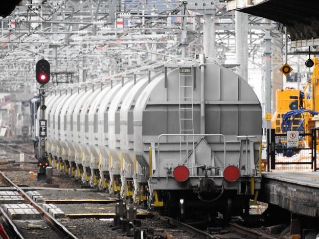 白ホキ貨物5747レ名古屋通過