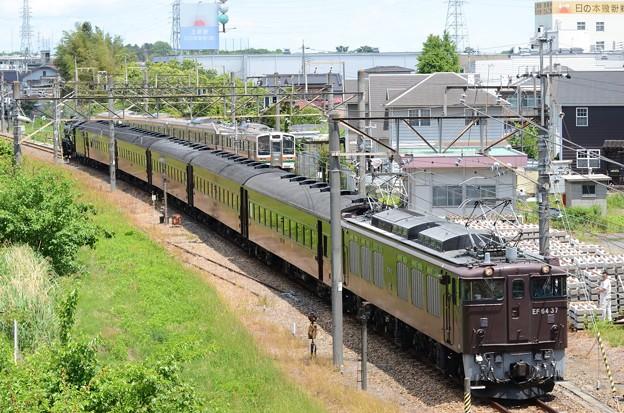 EF64 37牽引「SL本物の出会い栃木号」送り込み回送小山入線