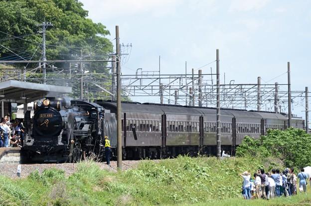 D51 498牽引SL本物の出会い栃木号岩舟30分停車 整備中