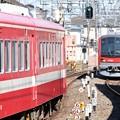 赤い電車ラストランと新鋭赤い電車