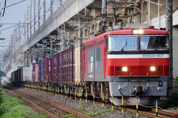 EH500-901牽引8062レ宇都宮貨物(タ)発車