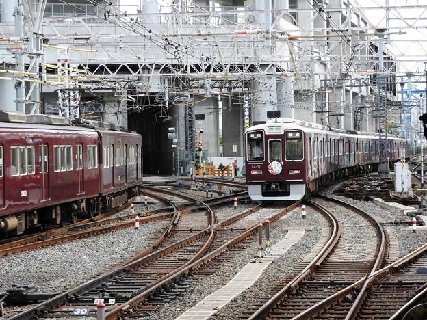 阪急淡路駅平面交差2