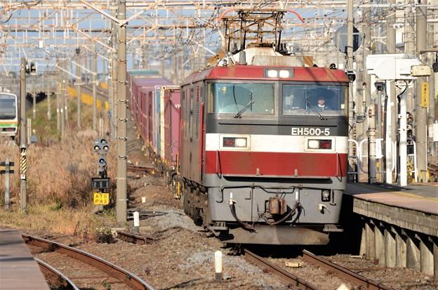 EH500-5号機牽引高速貨物3054レ小金井3番通過