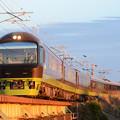 Photos: 夕陽の思川橋梁を行く足利イルミネーション号