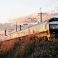 Photos: 夕陽に輝く足利イルミネーション号