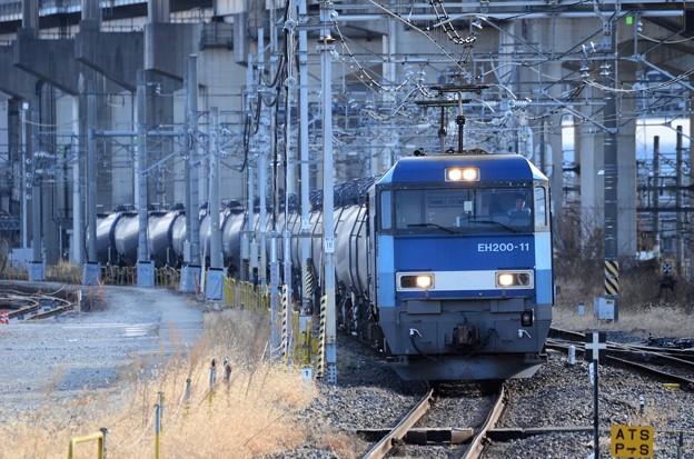 EH200-11号機牽引石油専用8099レ大宮通過