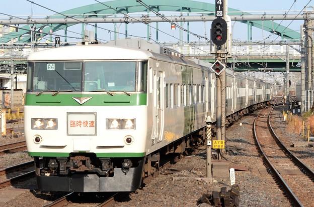 185系早春成田初詣号大宮4番入線