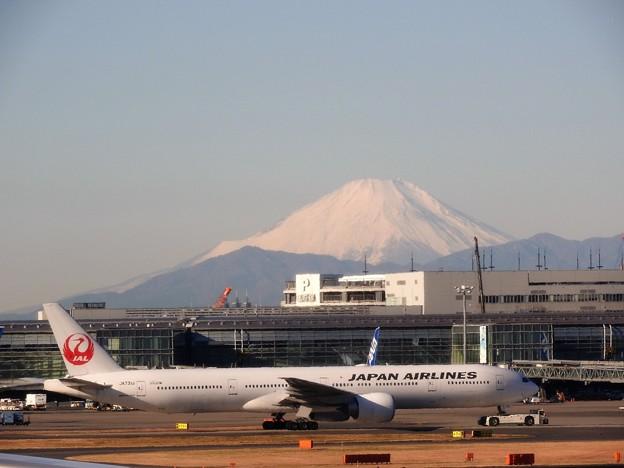 羽田空港から望む富士山