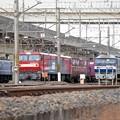 機関車いっぱいの貨物駅