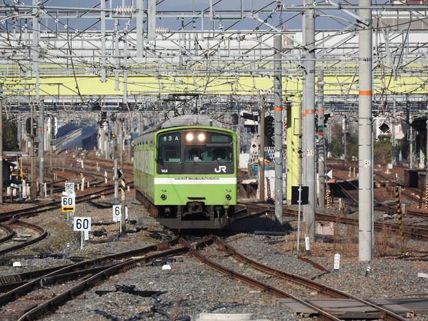 おおさか東線試運転201系新大阪進入