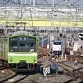 Photos: おおさか東線試運転201系と281系特急はるか号の離合
